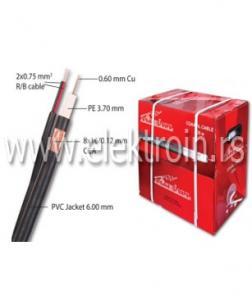 Koaksijalni kabl RG59 + 2x0.75 mm2 R/B