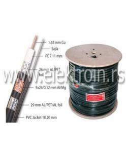 Koaksijalni kabl RG11 TRI-SHIELD Cu + sajla