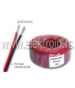 Zvučnički kabl 2x0.75 mm2 R/B