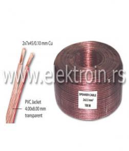 Zvučnički kabl 2x2.50 mm2 transparentni Cu