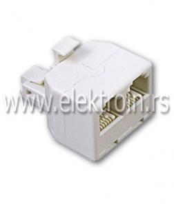 Telefonski adapter 1M / 2Ž - 6P/4C