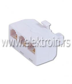 Telefonski adapter 1M / 3Ž - 6P/4C