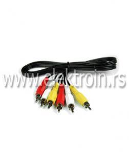 3 RCA - 3 RCA kabl1.5 M
