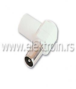 RF konektor za RG6, PVC kosi muški