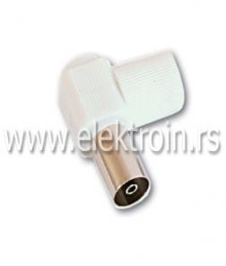 RF konektor za RG6, PVC kosi ženski