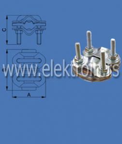 Aluminijumska univerzalna zavrsšna stezaljka 6-35