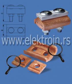 Aluminijumska univerzalna odvojena stezaljka 6-35