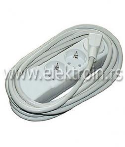 Produžni kabl bez prekidača 3 mesta-5 metara